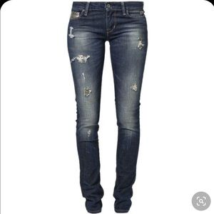 GUESS Starlet Skinny Leg Distressed Jeans, 28